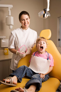 Girl and Dentist